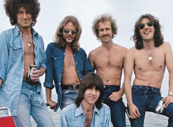 The Eagles band of five guys from the 1970s